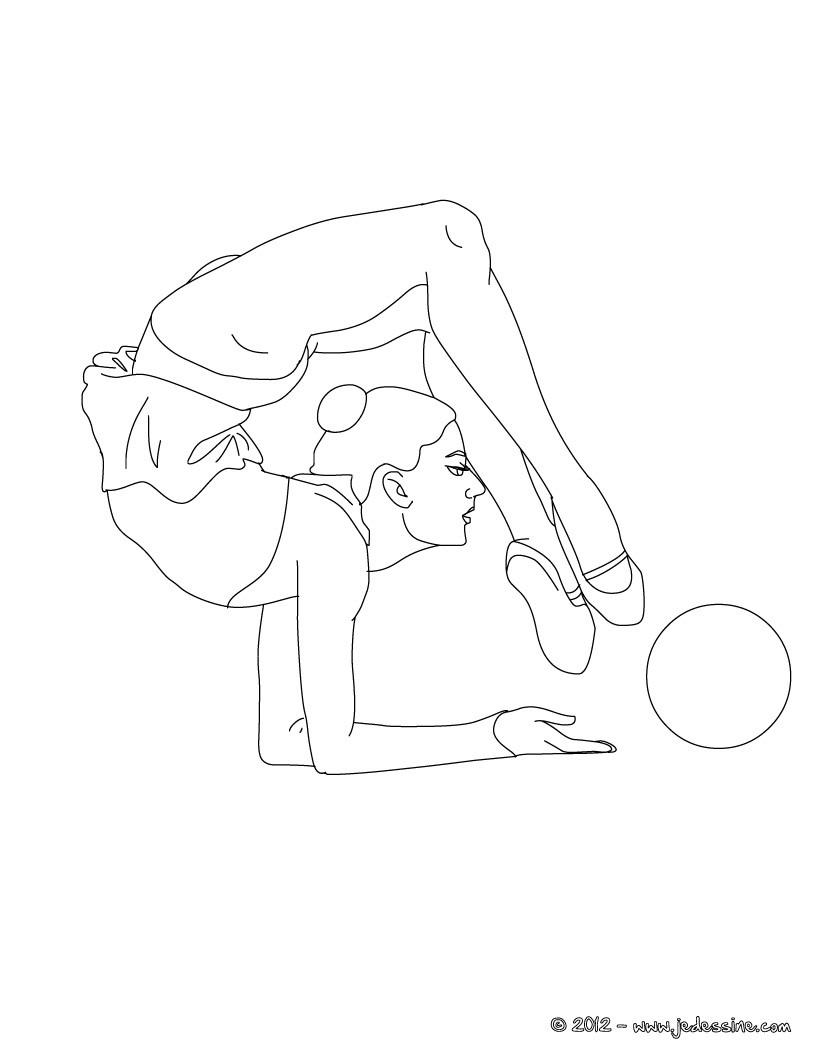coloriage gymnastique masculine