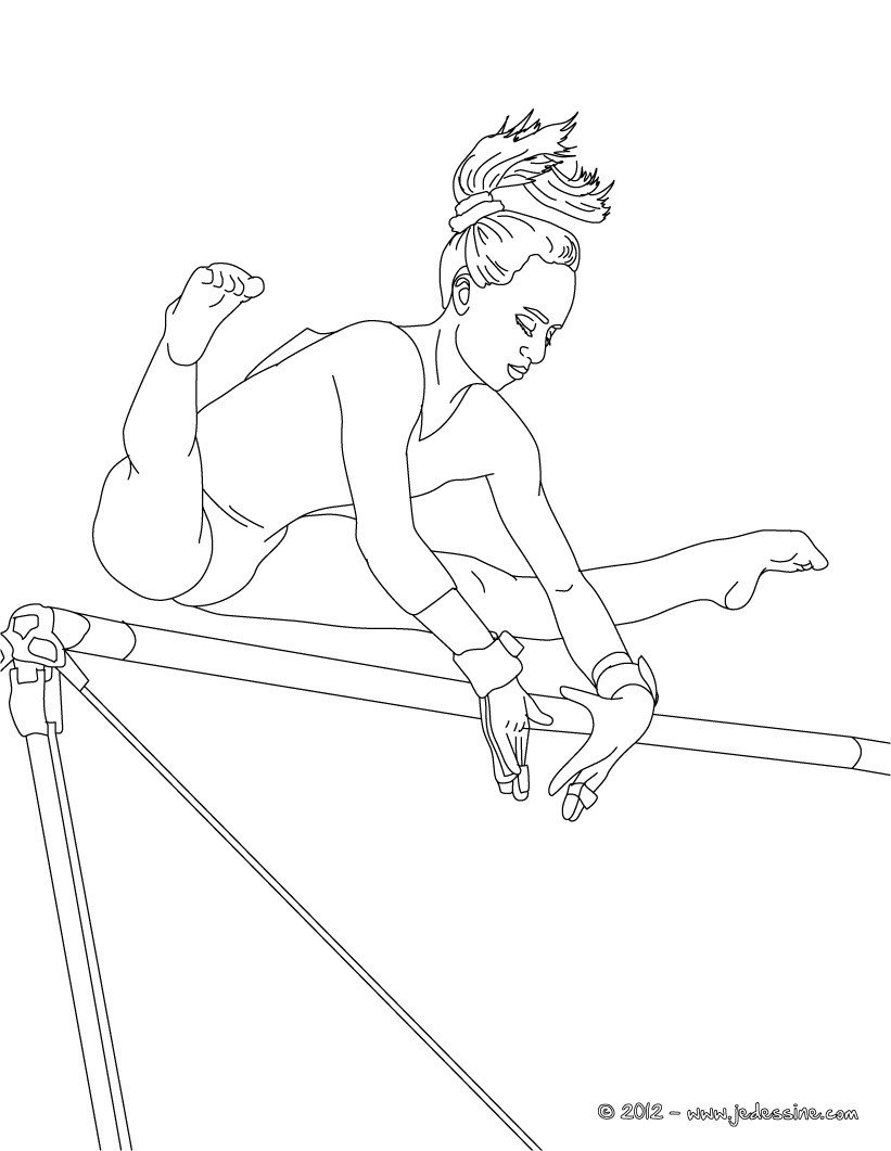 coloriage hugo l'escargot gymnastique