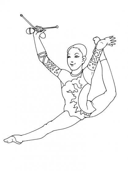 coloriage de gymnastique gratuit a imprimer