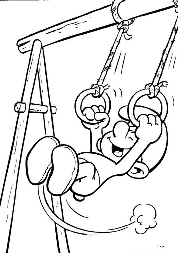 dessin à colorier gymnastique gratuit