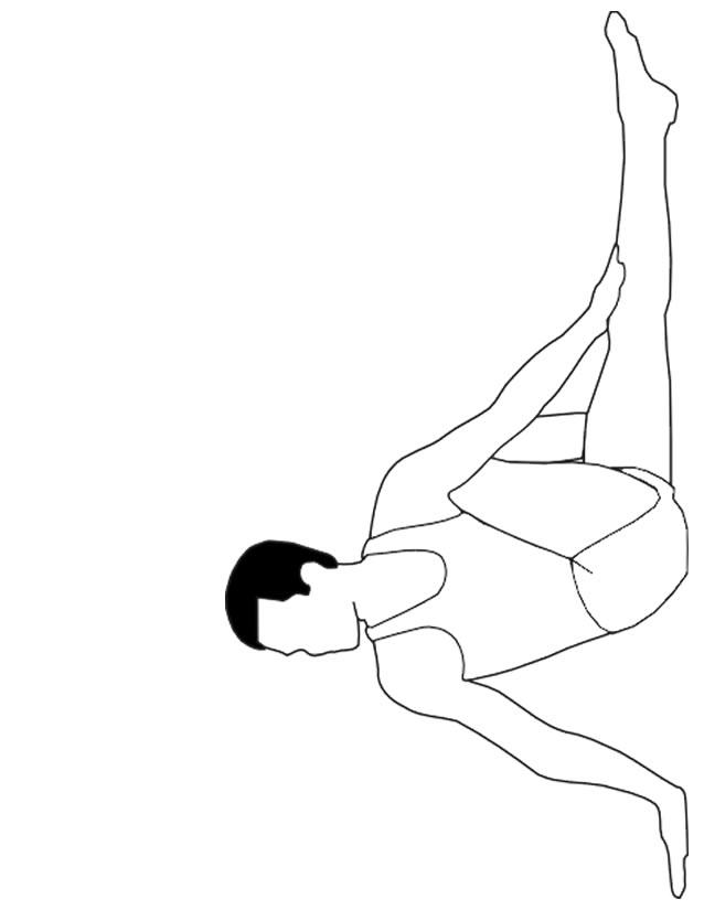 Dessin gymnastique rythmique a imprimer gratuit - Coloriage gym ...