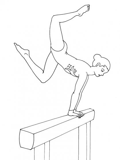 coloriage dessiner de gymnastique gratuit a imprimer. Black Bedroom Furniture Sets. Home Design Ideas