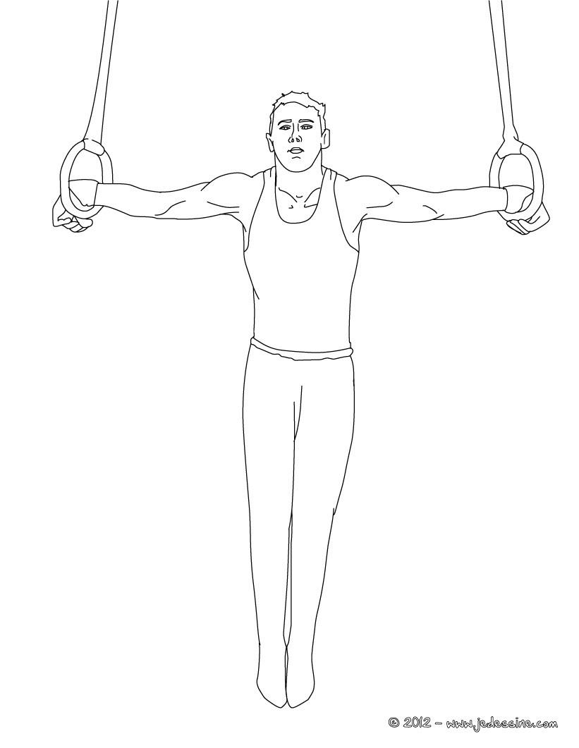coloriage de gymnastique artistique féminine