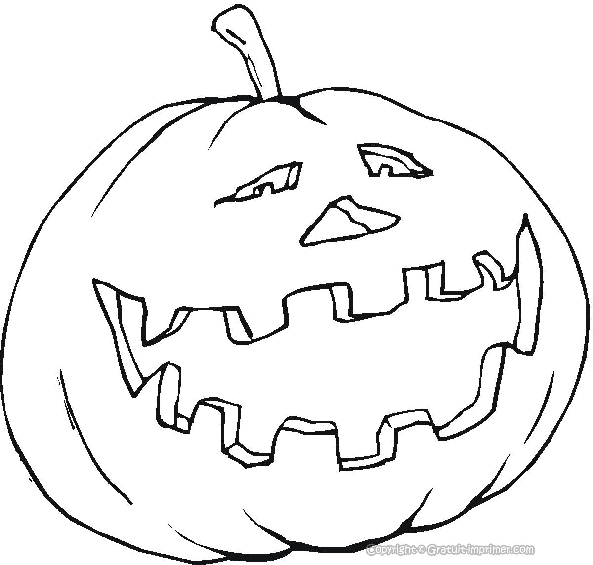 94 dessins de coloriage halloween citrouille imprimer - Citrouille coloriage ...