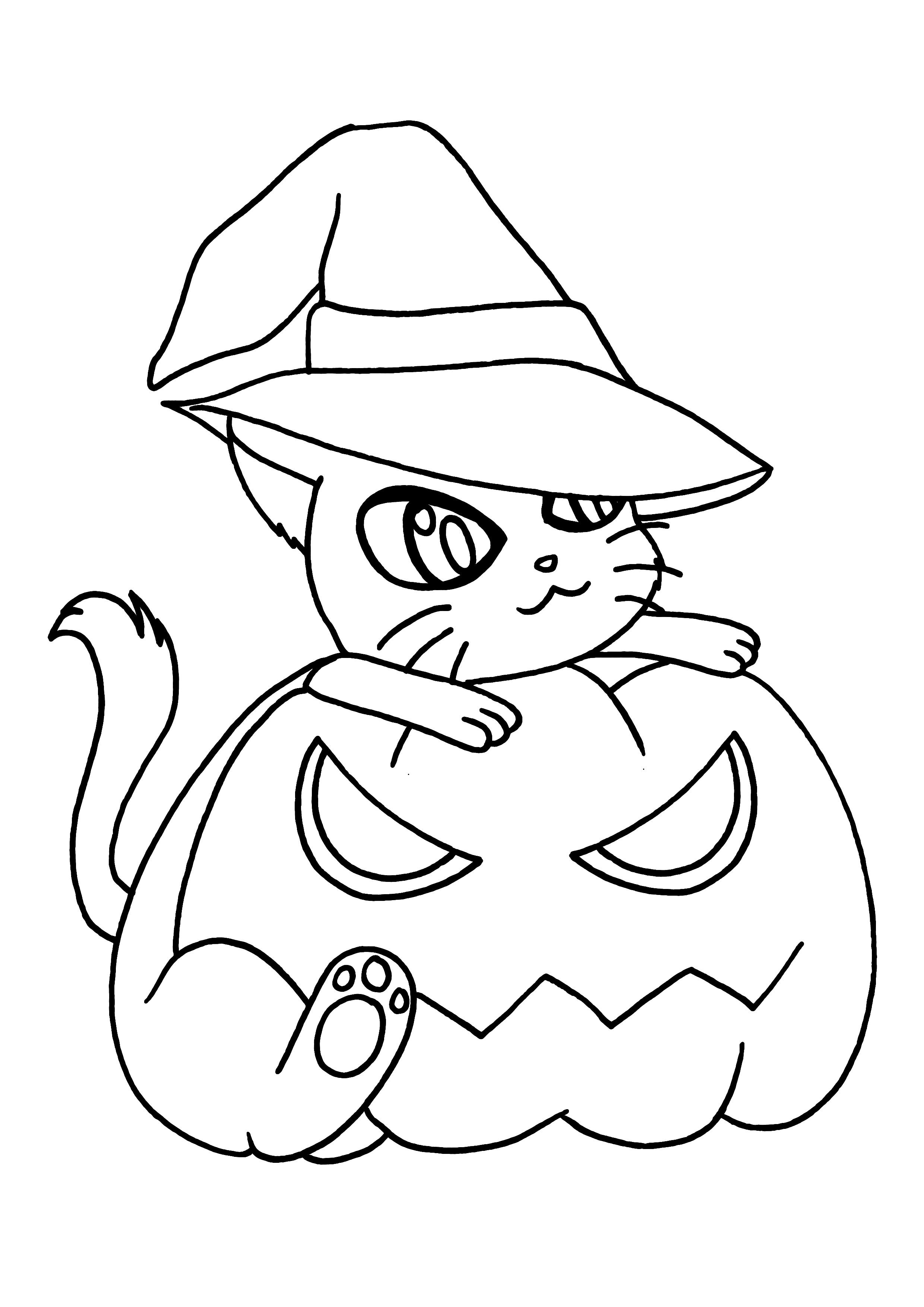 98 dessins de coloriage halloween en ligne imprimer - Dessin d halloween qui fait peur ...