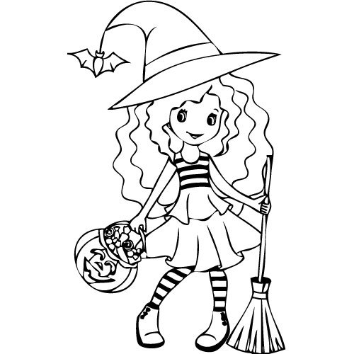100 dessins de coloriage halloween sorci re imprimer - Imprimer coloriage halloween ...