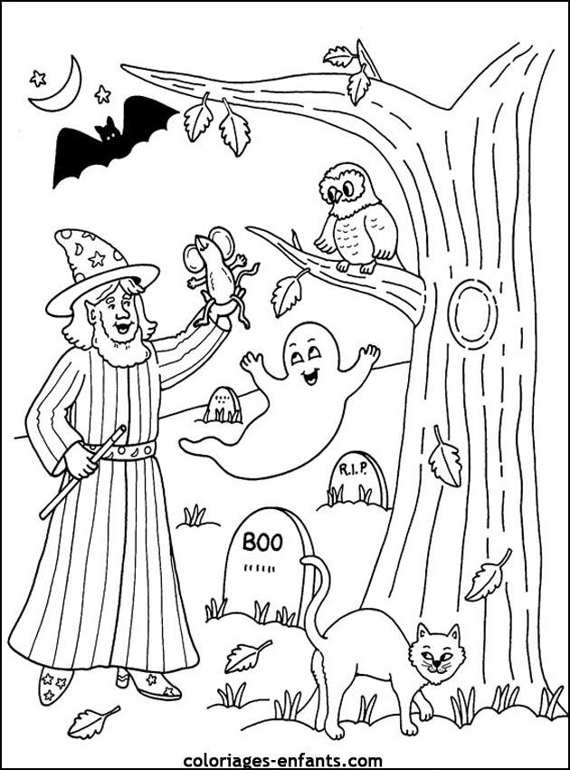 coloriage à dessiner halloween 2012