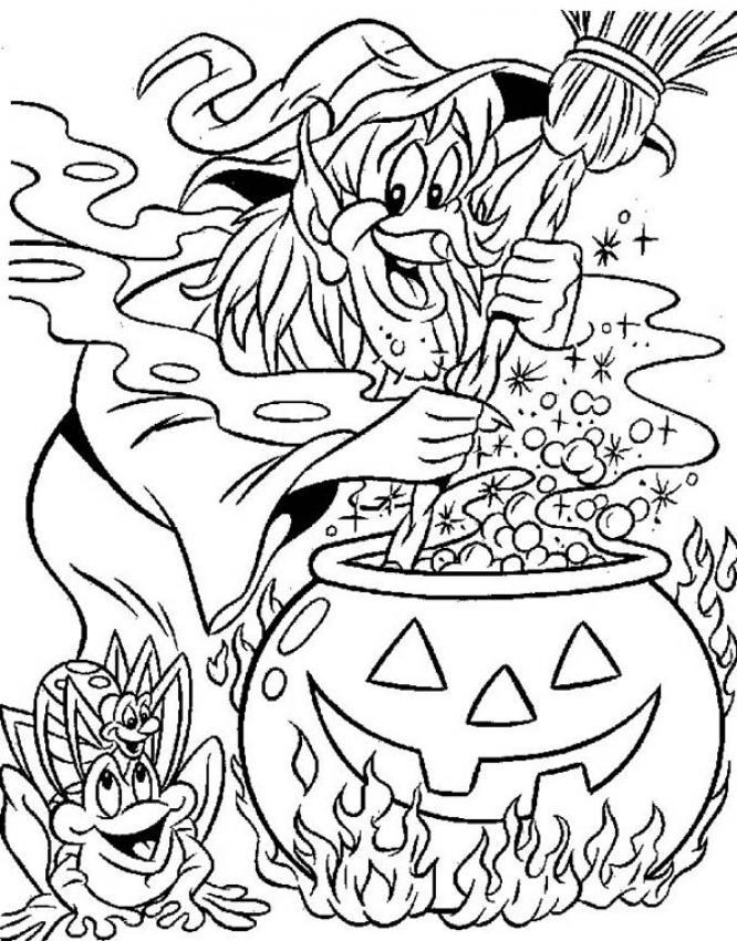 coloriage d'halloween sur l'ordinateur