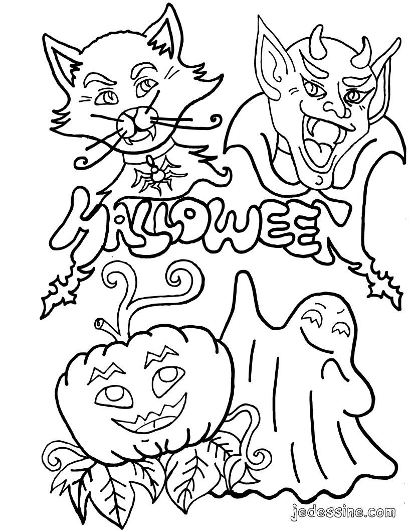 coloriage à dessiner halloween fantome