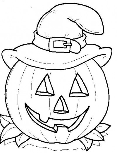 coloriage à dessiner en halloween