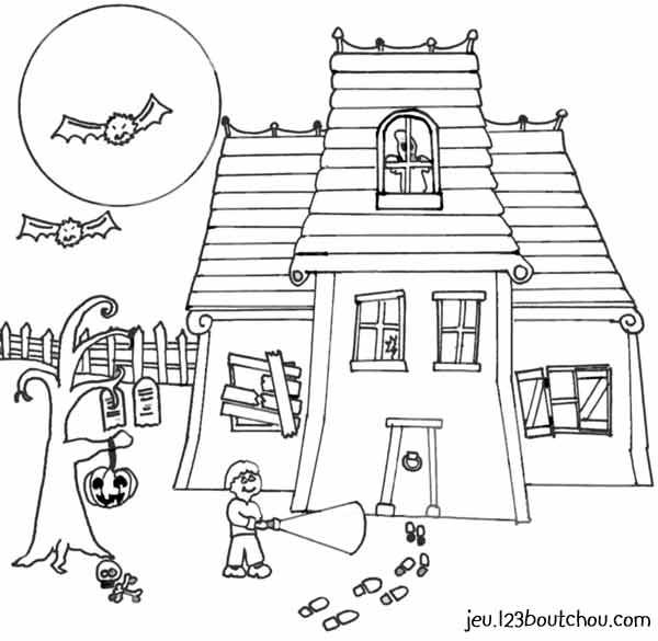 dessin � colorier halloween squelette