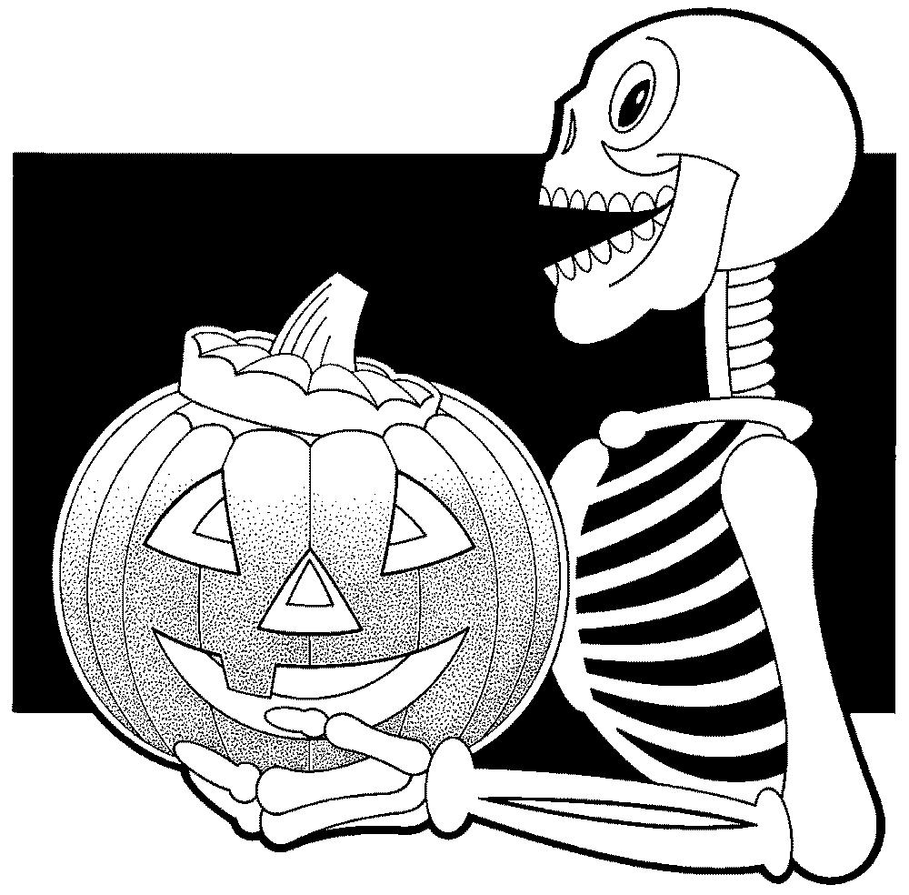 coloriage masque halloween imprimer