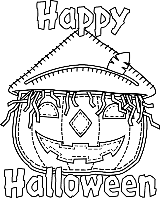 dessin happy halloween imprimer