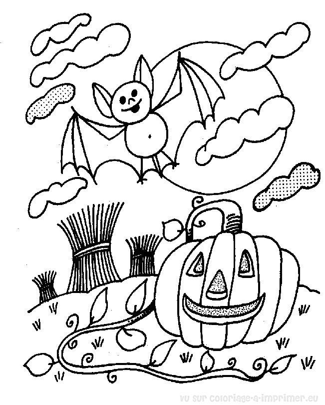 dessin halloween hello kitty a imprimer