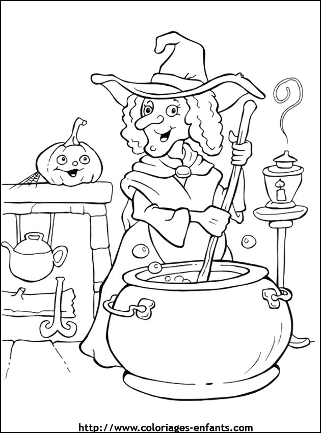 Coloriage d 39 halloween sur l 39 ordinateur - Dessin d alloween ...