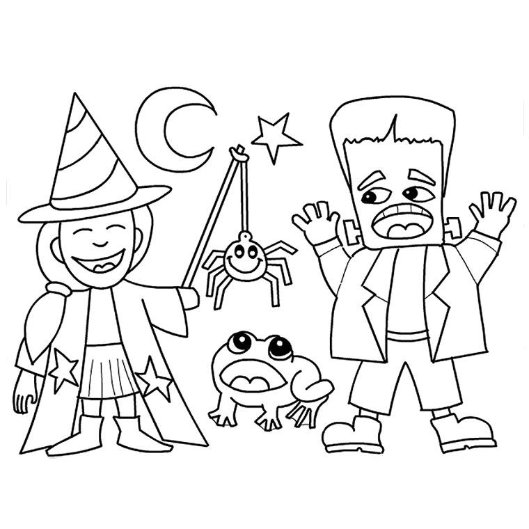 coloriage a imprimer halloween gratuit