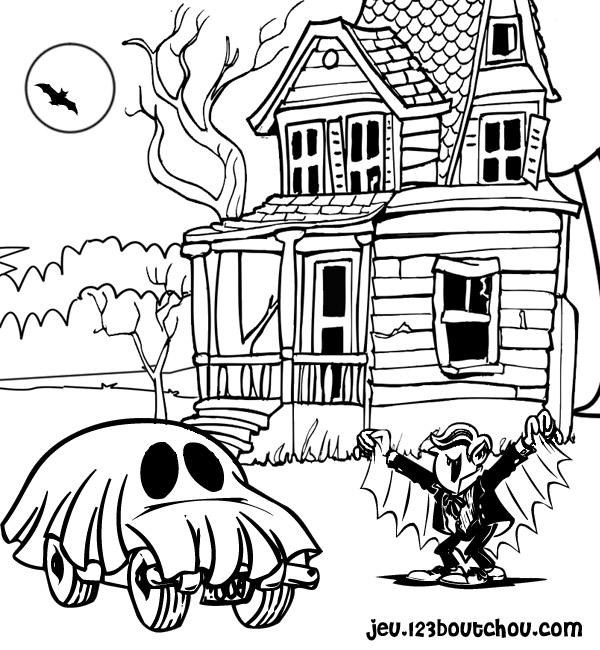 coloriage à imprimer halloween qui fait peur