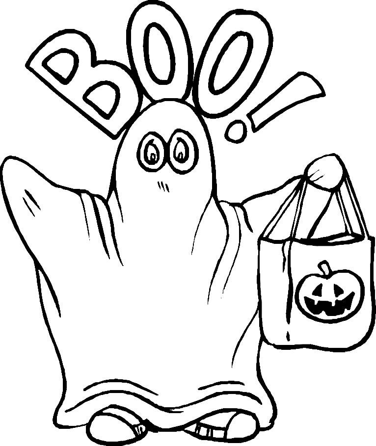 coloriage à dessiner joyeux halloween