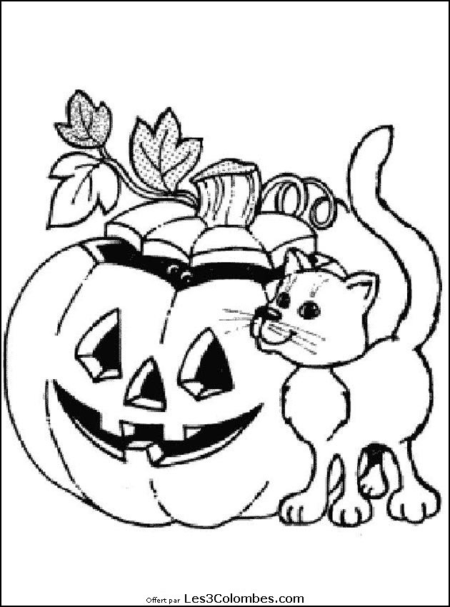 126 dessins de coloriage halloween imprimer - Coloriages d halloween ...