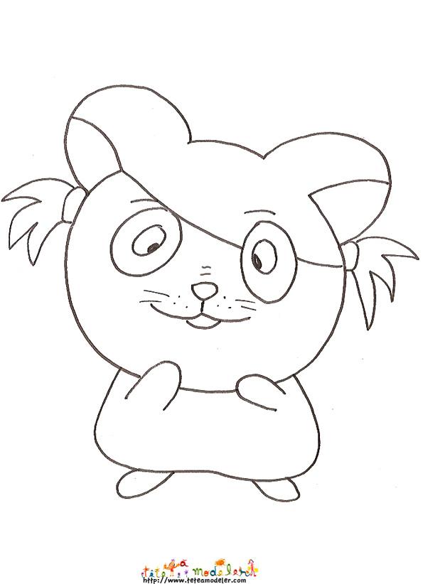 12 dessins de coloriage Hamster Nain à imprimer