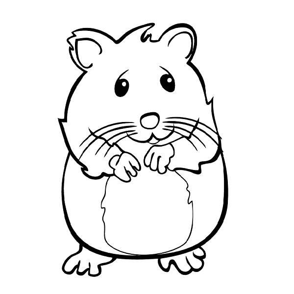 Coloriage de hamsters a imprimer - Hamster gratuit ...