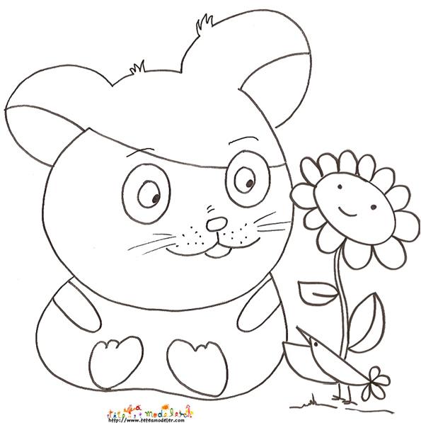 dessin hamsters imprimer