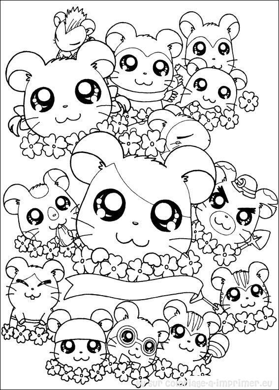 Coloriage Animaux Kawaii.Coloriage Animaux Kawaii A Imprimer Gratuit Coloriage99 Net