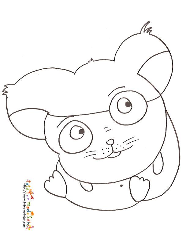 hamster coloriage animé