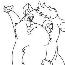 dessin a colorier hamster