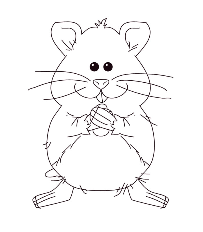 Hamster wheel coloring page