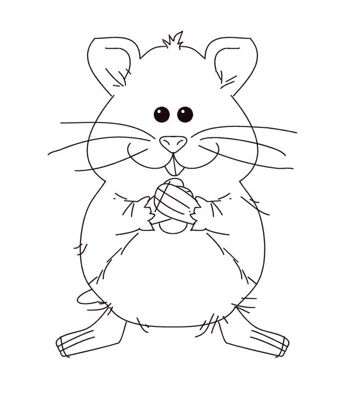 dessin de hamster nain