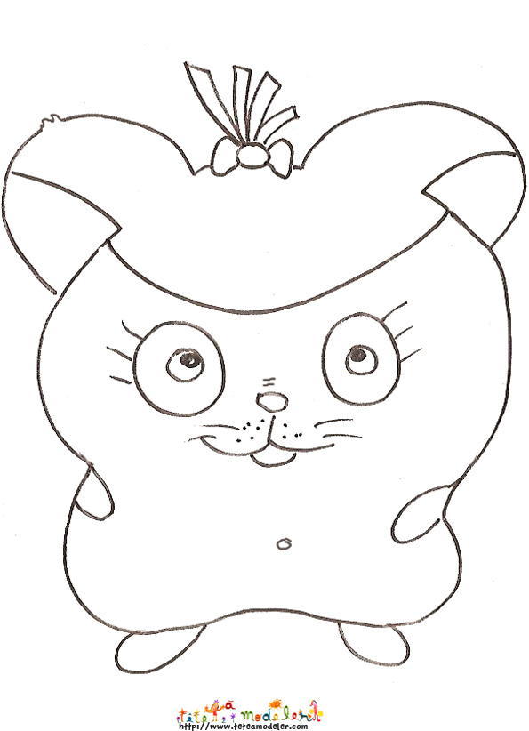 hamster connu coloriage animé