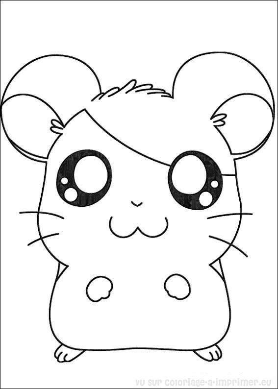 123 Dessins De Coloriage Hamster A Imprimer