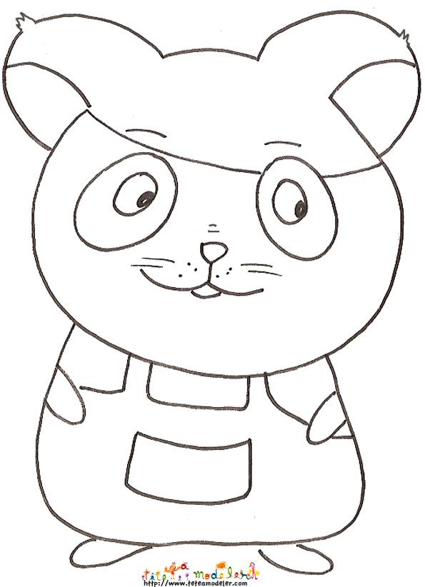 coloriage anim� hamster