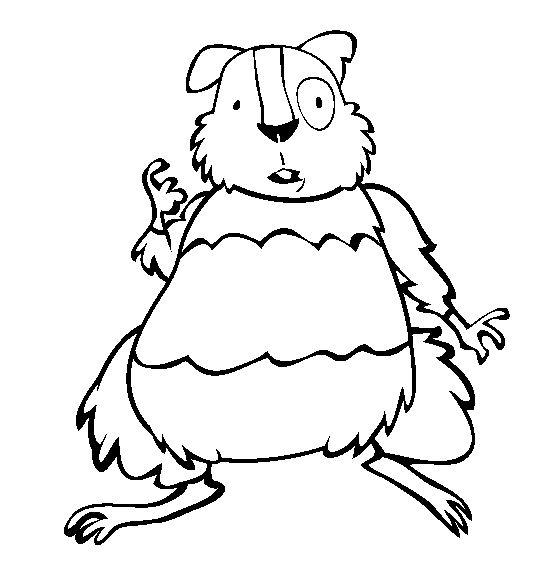 coloriage hamster rigolo