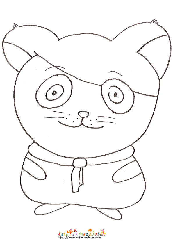 coloriage animé hamster agent secret