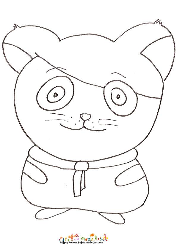 coloriage anim� hamster agent secret