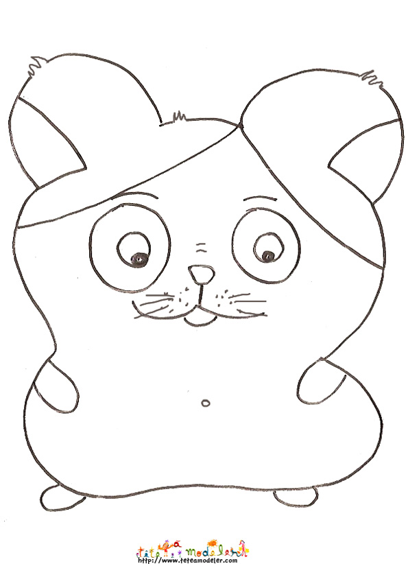 coloriage hamster facile