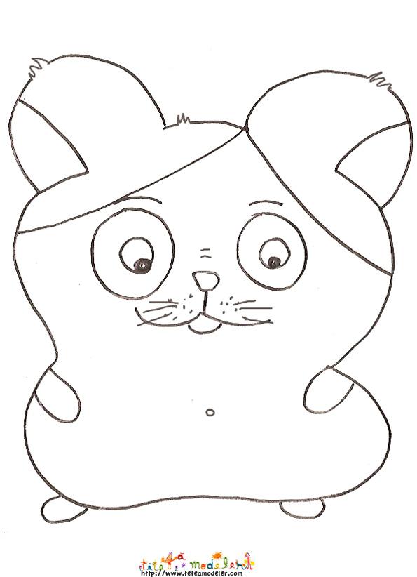 coloriage hamster facile