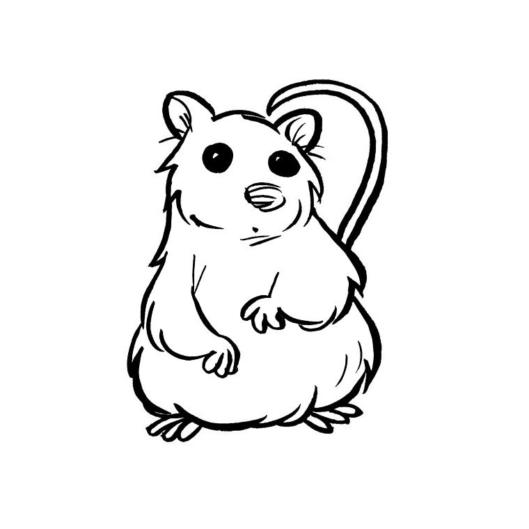 coloriage anim� avec un hamster