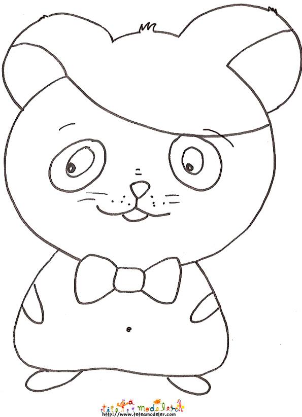 coloriage sur les hamster