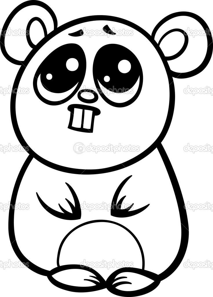 dessin de hamster mignon