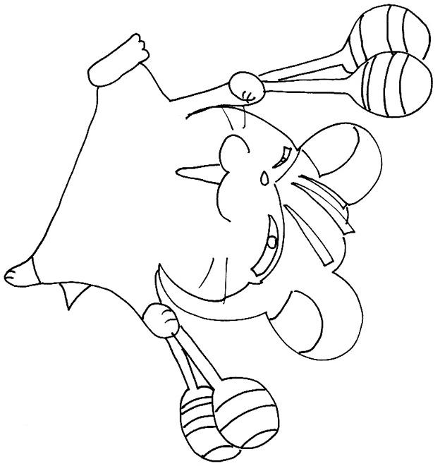 dessin hamster a imprimer