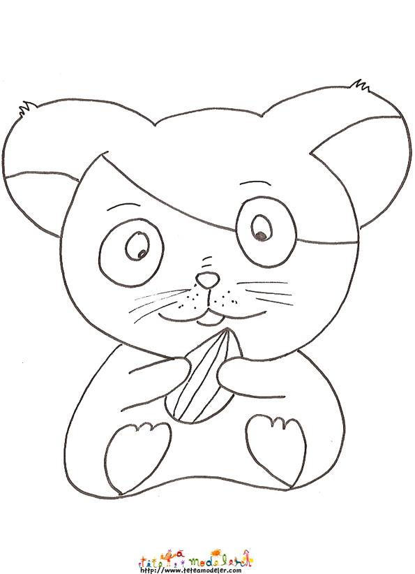 coloriage hamster à colorier