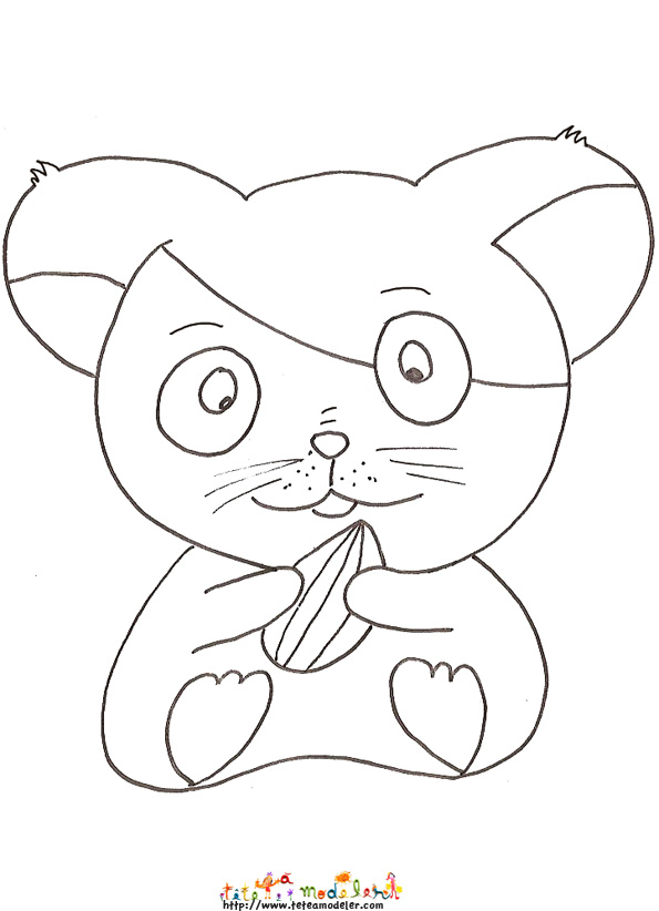 coloriage hamster � colorier