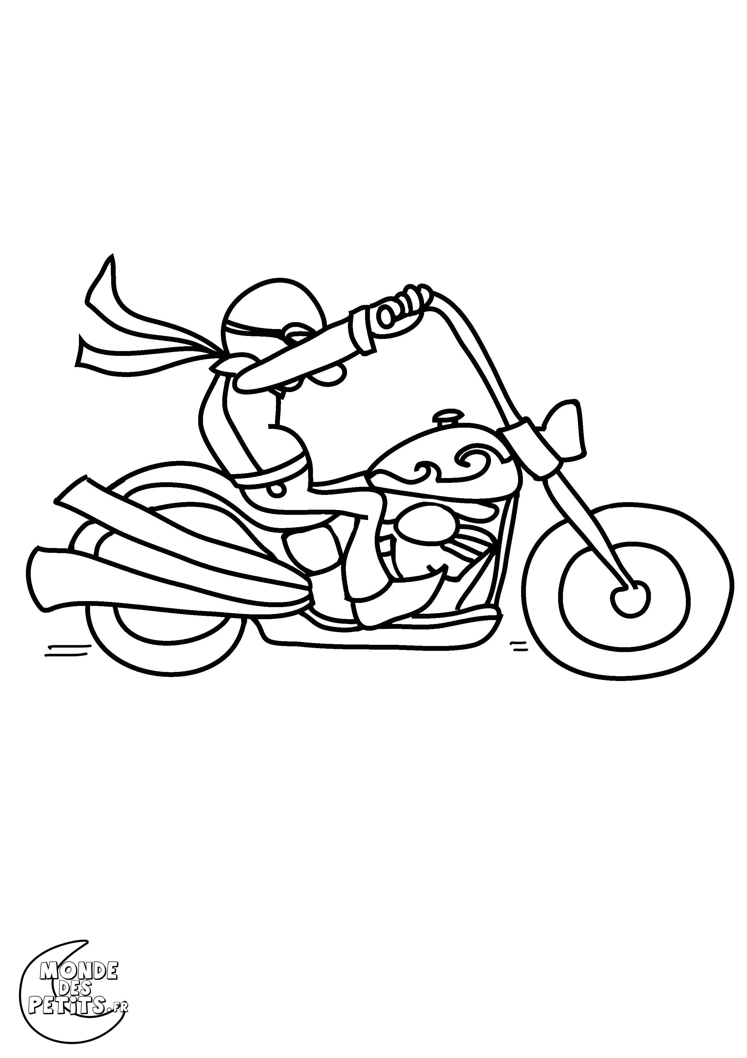 dessin harley davidson imprimer