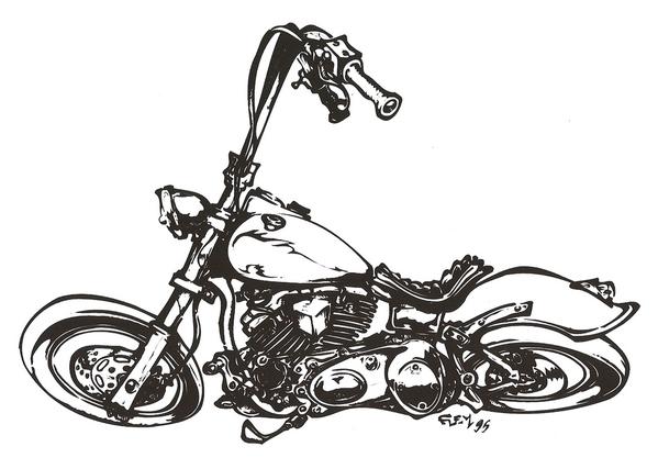 dessin de harley davidson a imprimer