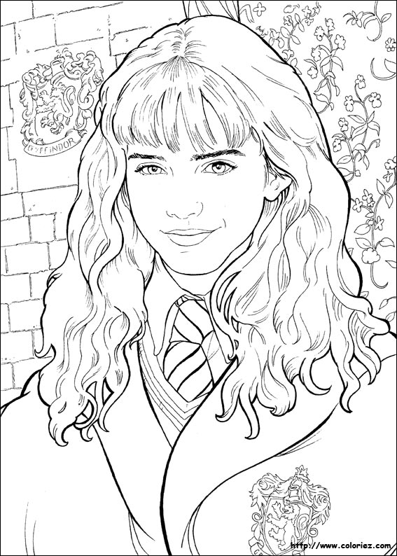 coloriage de harry potter 7 voir le dessin