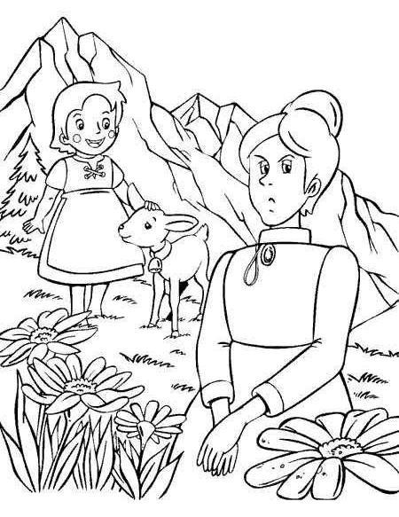 coloriage à dessiner heidi a imprimer gratuit