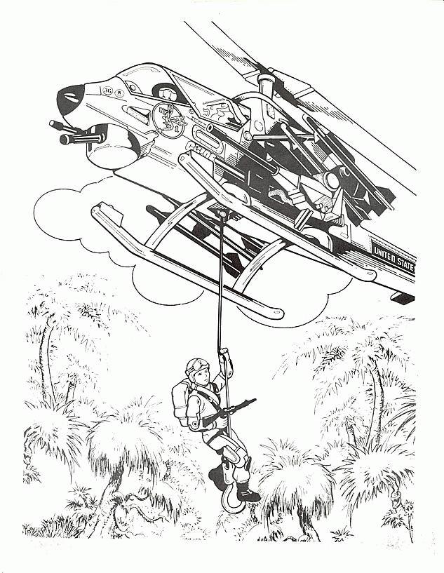 14 dessins de coloriage Hélicoptère Rega à imprimer